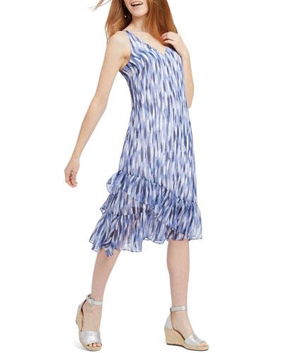 Petite Falling Petals Sleeveless Dress