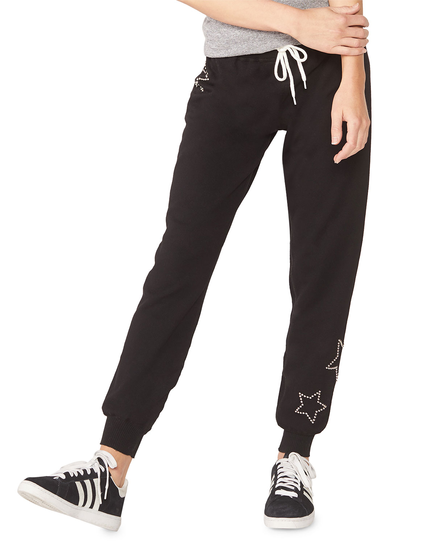 Monrow Pants MATERNITY STAR-STUDDED SWEATPANTS