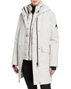 49 Winters 2-Piece Tailored Down Long Parka, Gray