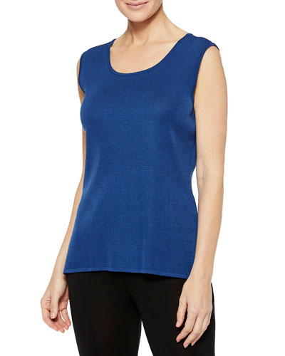 Plus Size Venetian Scoop-Neck Tank