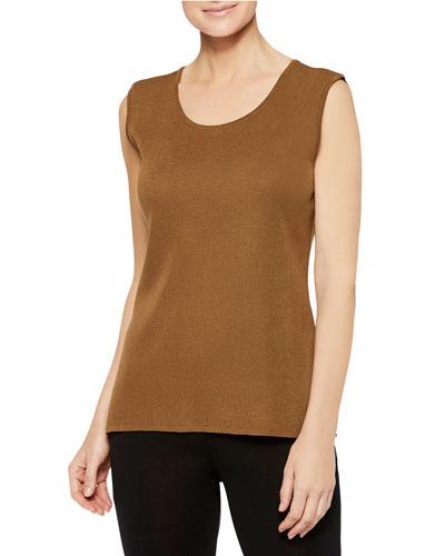 Plus Size Knit Scoop-Neck Tank
