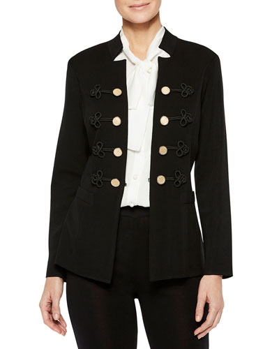 Button & Soutache Jacket