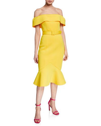 ab3763330fbc Yellow Short Sleeve Dress | Neiman Marcus
