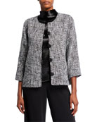 Caroline Rose Glamour Tweed Boxy Jacket
