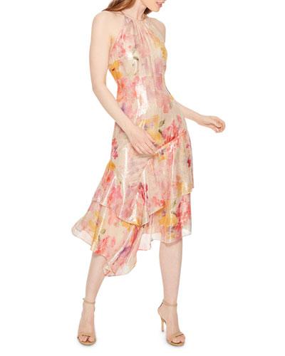 Ida Asymmetric Halter Dress