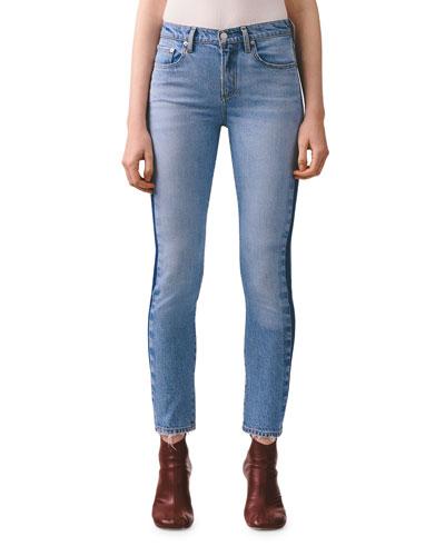 Toni Mid-Rise Slim Straight Jeans