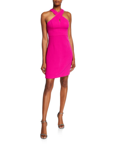 Rafter Mini Halter Dress