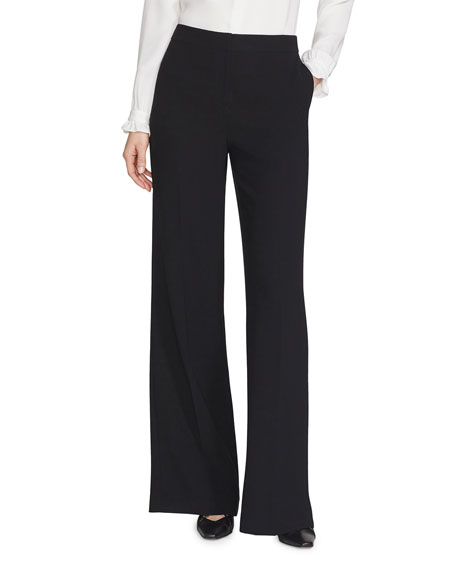 Lafayette 148 New York Dalton Finesse Crepe Wide-Leg Pants