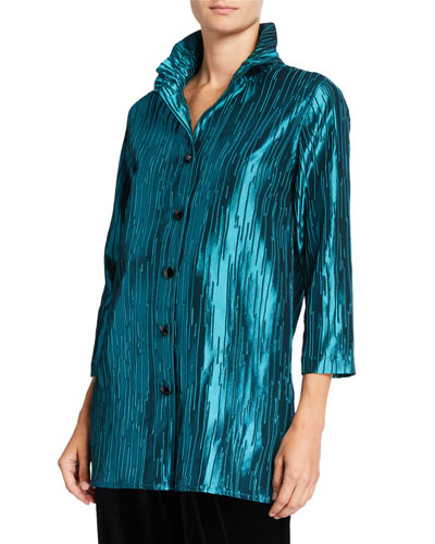 Plus Size Luminous Jacquard 24/7 Shirt