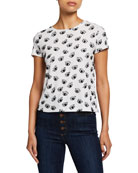 Alice + Olivia Rylyn Embellished Eye T-Shirt