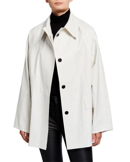 Kassl Short Oil Finish Raincoat, White