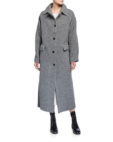 Kassl Wool-Blend Button Maxi Coat