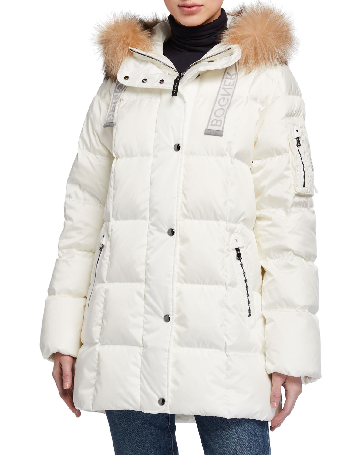 Bogner Jackets FANJA REMOVABLE FUR-RUFF DOWN JACKET
