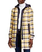 Bogner Kerri Plaid 2-Layer Coat
