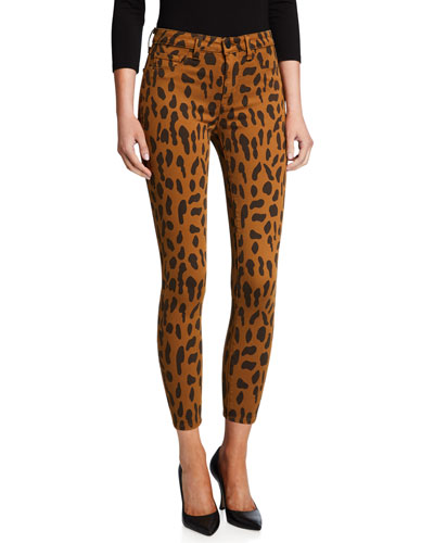 Margot Animal-Print Skinny Jeans
