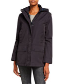 Barbour Bruads Waterproof Detachable-Hood Jacket