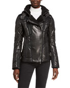 Bogner Drew Faux Leather Smooth & Quilted Ski