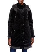 Bogner Silvia Bonded 2-Layer Velvet Coat