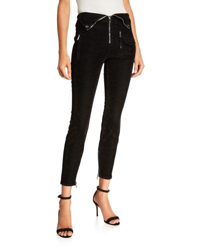 Diavolina Zip-Front Pants