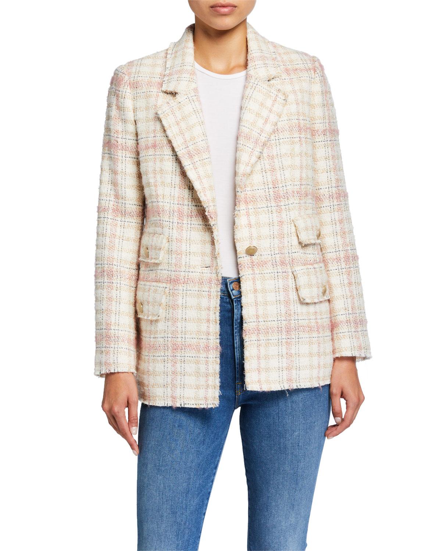 Rebecca Taylor Jackets Plaid Tweed Jacket