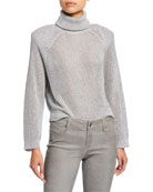 RtA Mick Metallic Turtleneck Sweater