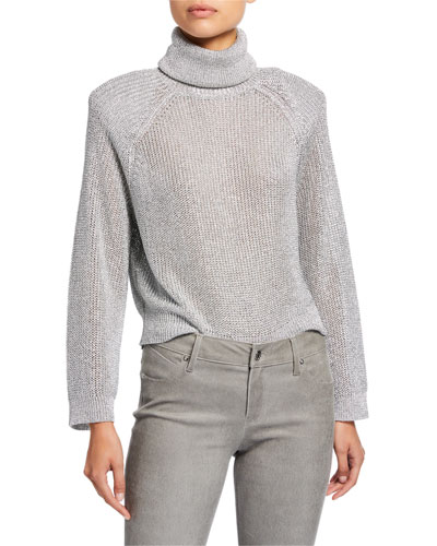 Mick Metallic Turtleneck Sweater
