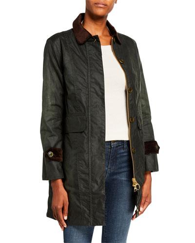 Icons Haydon Waxed Belt-Back Coat