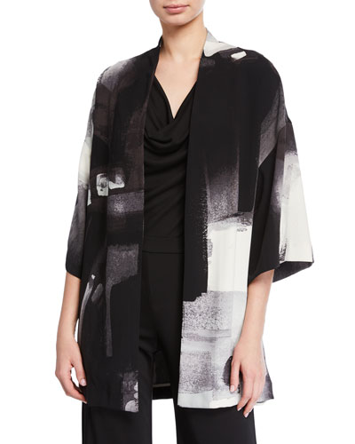 Brushstroke Silky Soft Easy Jacket