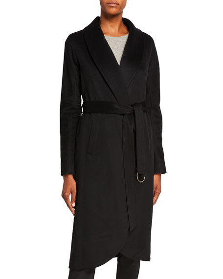 Sofia Cashmere Cashmere High-Low Belted Coat