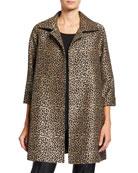 Caroline Rose Plus Size Sequin Leopard Jacquard Party