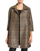 Caroline Rose Sequin Leopard Jacquard Party Jacket