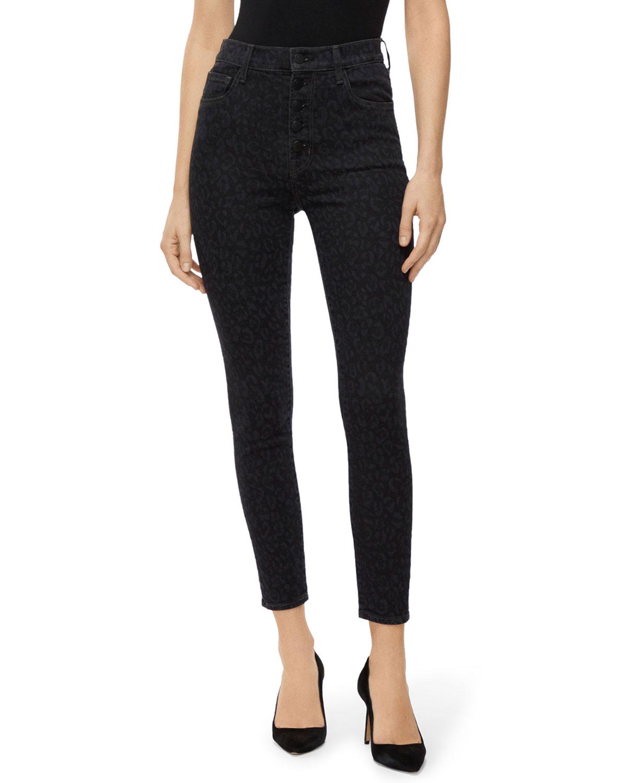 J Brand Jeans LILLIE HIGH-RISE CROP SKINNY JEANS