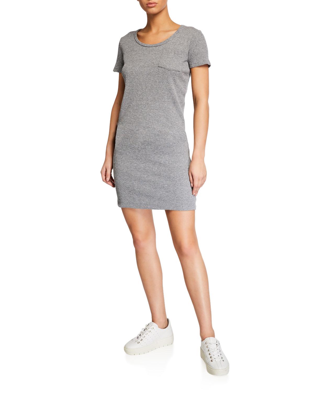 Monrow Dresses THERMAL SHORT-SLEEVE POCKET TEE DRESS