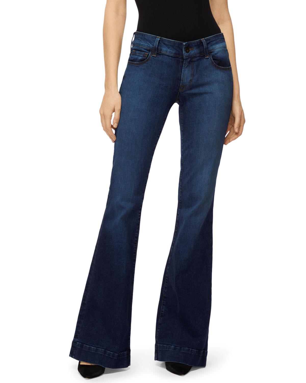 J Brand Jeans LOVESTORY MID-RISE FLARE-LEG JEANS