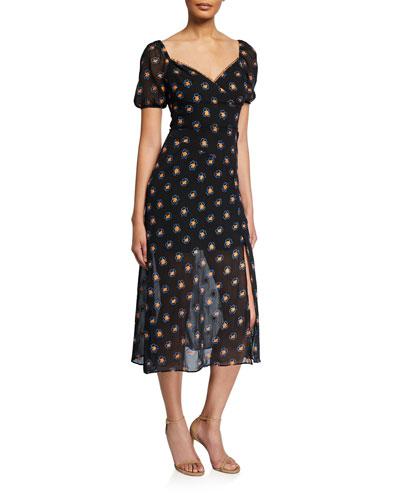 Love Me Floral-Print Midi Dress