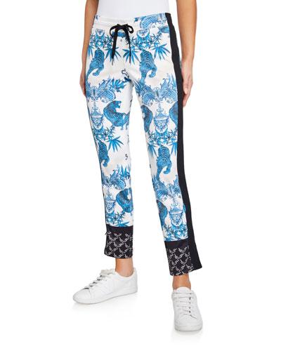 Jagger Printed Crop Slim Pants