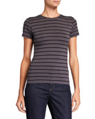 Agolde Short Sleeve Cotton Cropped Baby Tee Neiman Marcus