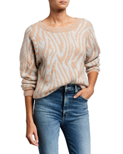 Tiger Stripe Wool Pullover Sweater