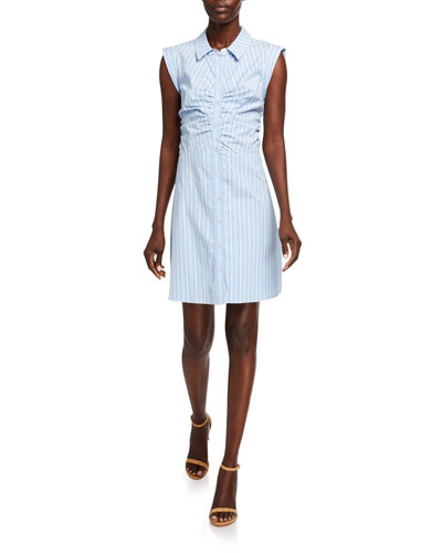 Ferris Sleeveless Striped Shirtdress
