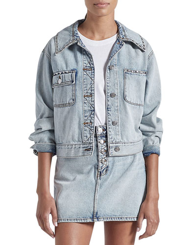 The Sammy Studded Denim Jacket