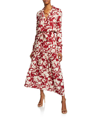 Ambrosia Floral-Print Long-Sleeve Dress