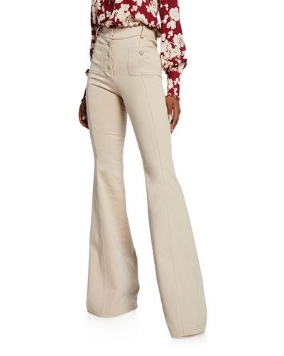 Helene High-Rise Flared Pants