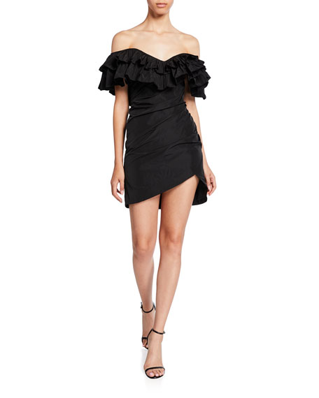 Alexis Benicia Off-Shoulder Ruffle Cocktail Dress
