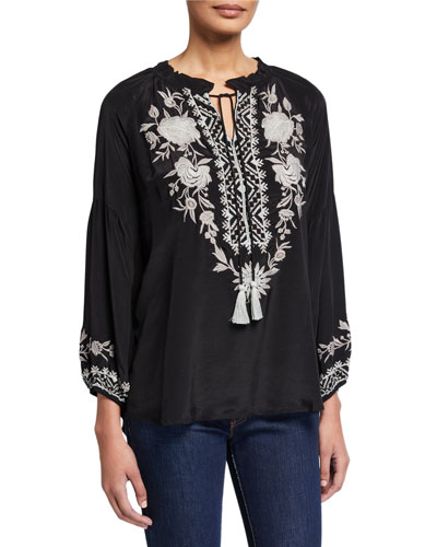 Plus Size Clorinda Embroidered Tunic