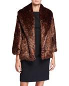 Natori Faux Fur Shorter Jacket
