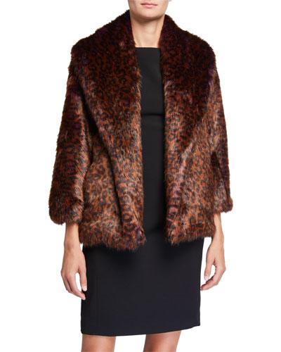 Faux Fur Shorter Jacket