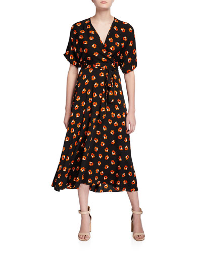Kelsey Floral-Print Wrap Dress