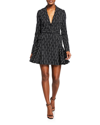 Kaedan Striped A-Line Belted Mini Dress