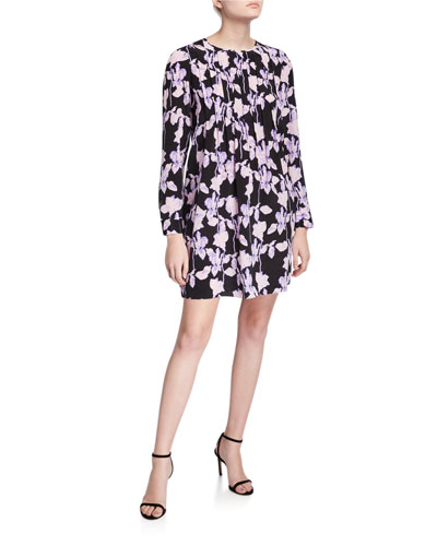 Joyce Pleated Floral-Print Dress