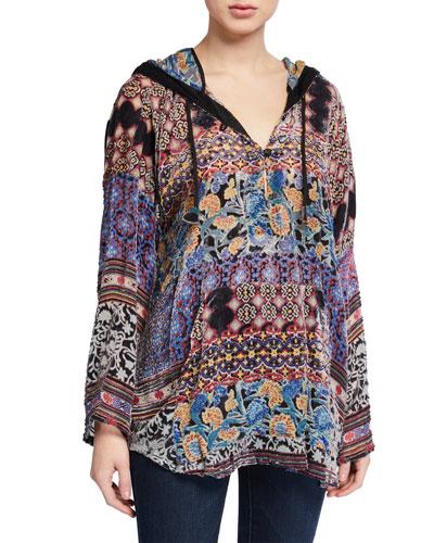 Karma Burnout Aztec Pullover Velvet Hoodie